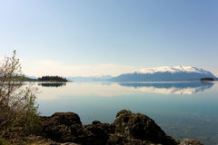 The rocky mountains reflected in a lake Royalty Free Stock Photo