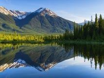 Rocky Mountains Reflecting sul lago tranquillo Fotografia Stock Libera da Diritti