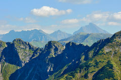 Rocky mountains ridge Royalty Free Stock Image