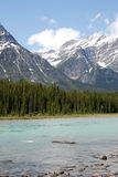 Rocky mountains and river Stock Photo