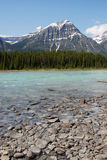 Rocky mountains and river stock photography