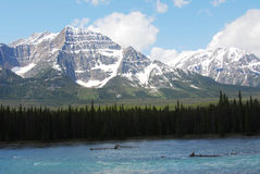 Rocky mountains and river royalty free stock photography