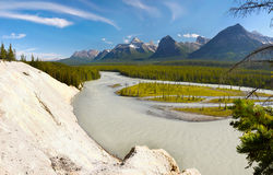 Rocky Mountains River Jasper Viewpoint Stock Photo