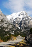 Rocky mountains and road Stock Image