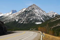 Rocky mountains and road Royalty Free Stock Photo