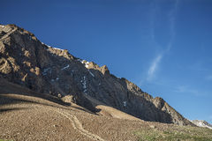Rocky mountains slope view Stock Images