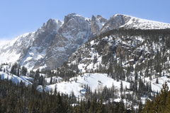 Rocky Mountains After Snowfall Royalty Free Stock Images