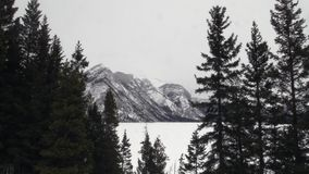 The Rocky Mountains. In spring stock video footage