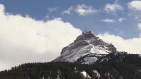 The Rocky Mountains. In spring stock footage