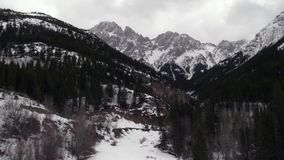 The Rocky Mountains. In spring stock video