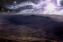 Rocky Mountains Star Scape Stock Photos