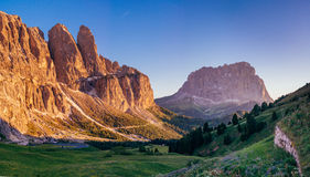 Rocky Mountains at sunset.Dolomite Alps, Italy. Rocky Mountains at sunset.Dolomite Alps Italy Stock Image