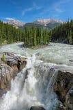 Rocky Mountains - Sunwapta Falls in Jasper National Park Stock Photo