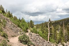 Rocky Mountains trail Stock Photo