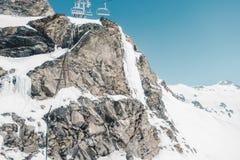 Rocky Mountains Under Snow Imagens de Stock