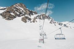 Rocky Mountains Under Snow Foto de Stock Royalty Free