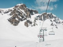 Rocky Mountains Under Snow Fotos de Stock Royalty Free