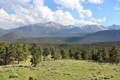 Rocky Mountains USA. USA landscape in Colorado. Rocky Mountain National Park royalty free stock photography