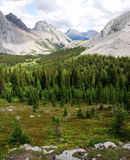 Rocky mountains and valley Stock Image