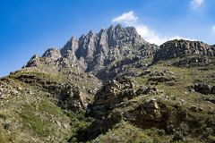 Rocky mountains on Western Cape, South Africa Stock Photography