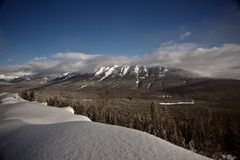 Rocky Mountains in winter Stock Photography