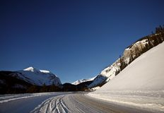 Rocky Mountains in winter Royalty Free Stock Photo