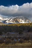 Rocky Mountains and Winter Snow Clouds Stock Photography