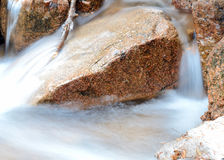 Rocky Mountains Winter Stream. Rocky Mountains flowing stream in late winter Royalty Free Stock Image