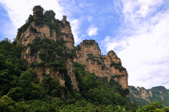 Rocky mountains in Zhangjiajie, China Stock Photo