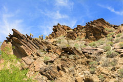 Rocky mountainside in Palm Springs Royalty Free Stock Image