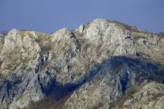 Rocky mountainside. A steep mountainside at the Pindus mountain range royalty free stock photo