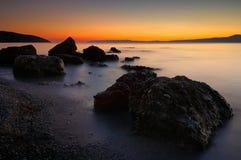 rocky, na plaży Obrazy Stock