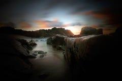 rocky, na plaży Fotografia Stock