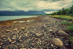 rocky na plaży Norwegia Obraz Royalty Free