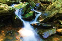 Rocky Natual Spring Runoff Fotografia Stock