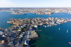 Rocky Neck in Gloucester, Cape Ann, Massachusetts Royalty Free Stock Photos