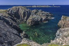 Rocky Newfoundland coastline near Bonavista Royalty Free Stock Photos