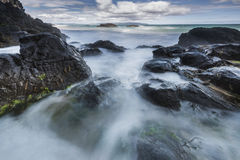 Rocky North Ireland coastline Stock Photo