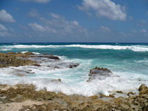 Rocky Ocean Beach in Cozumel Mexico Royalty Free Stock Photography