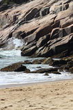 Rocky ocean beach in Maine Stock Image