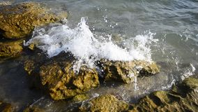 Rocky ocean coast splash Royalty Free Stock Photography