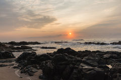Rocky Ocean Coastline Sunrise Stock Photography