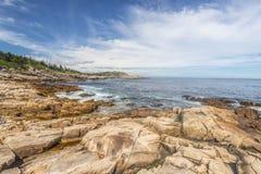 Rocky Ocean Shore Stockfoto
