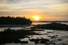 Rocky Ocean Sunset stockbilder