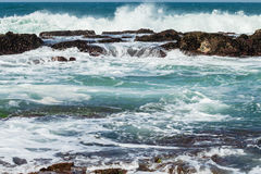 Rocky Ocean Tidal Pools Stock Image