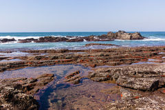 Rocky Ocean Waves Tidal Pools Stock Photo