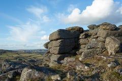 Hayne Down Dartmoor. Rocky outcrop on Hayne Down, Dartmoor National Park Devon Uk Stock Photo