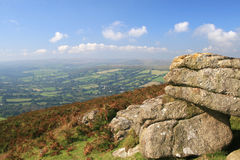 Rocky outcrop on Honeybag Tor royalty free stock photo