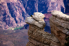 Rocky Outcropping Above Colorado River in Grand Ca Stock Image