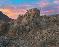 Rocky Outcropping in the Desert Royalty Free Stock Photos
